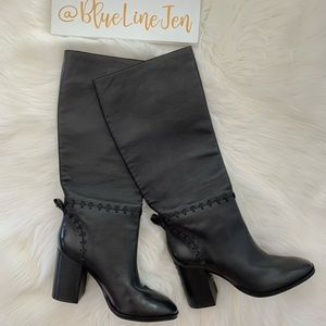 Tory Burch Black Leather Contraire Boots NWOT